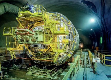 Semmering-Basistunnel zur Hälfte gegraben