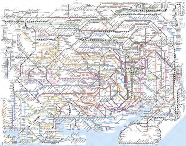 Gleichstrombahnen für den Tokioter Ballungsraum mit 35 Mio. Einwohnern