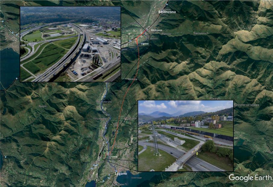 Erdung und Rückleitung im Projektperimeter Ceneri-Basistunnel