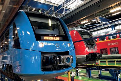 Weltweit größte Wasserstoff-Zugflotte in Hessen