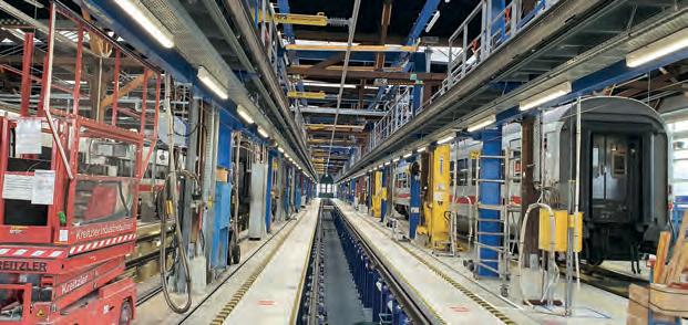 Abschalt- und Erdungsautomatik mit Steuerung über Lichtschranken im ICE-Werk Basel