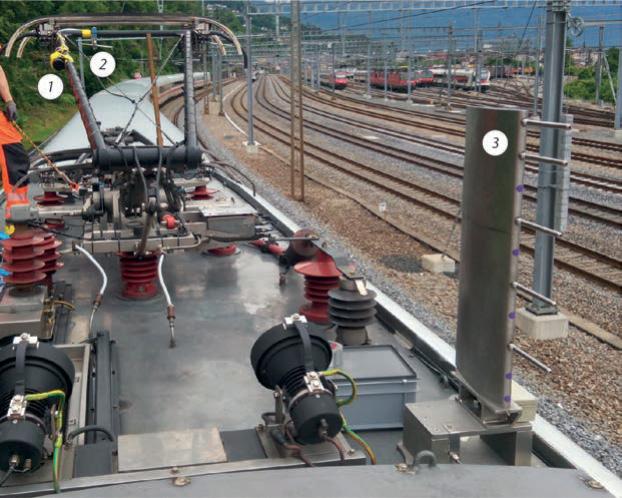 Deckenstromschiene für 250 km/h im Ceneri-Basistunnel